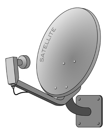 dish: Satellite dish Illustration
