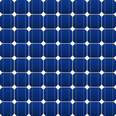 solar equipment: Flat photovoltaic panel in blue Illustration