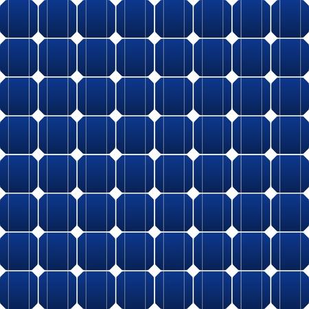 solar equipment: Panel plano fotovoltaica en azul Vectores