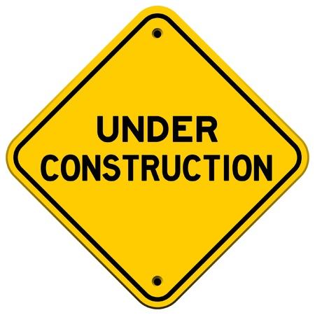In aanbouw gele teken Vector Illustratie