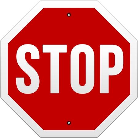 achtung schild: Stop-Schild Illustration