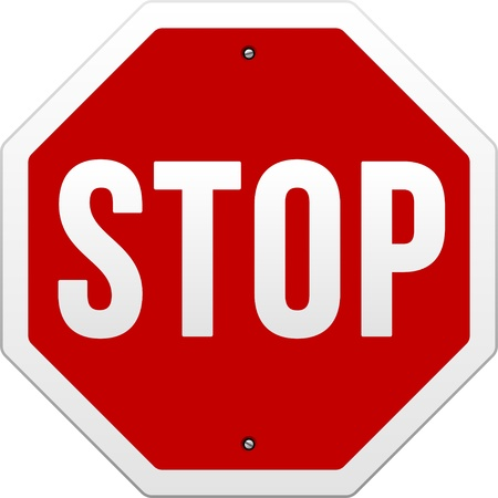 Stop Sign Stock Vector - 9840941