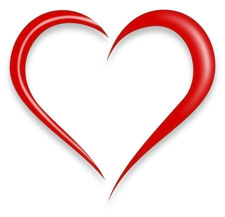 赤愛の心  イラスト・ベクター素材