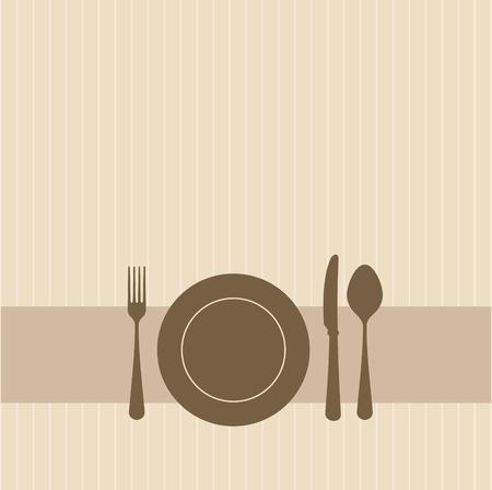 couteau fourchette cuill�re: Brune invitation � une partie