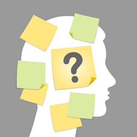 仕事で挑戦的な質問  イラスト・ベクター素材