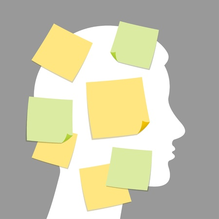 post it note: Note astratte e il processo idea