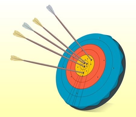 Vintage Target and Arrows Stock Vector - 10032275