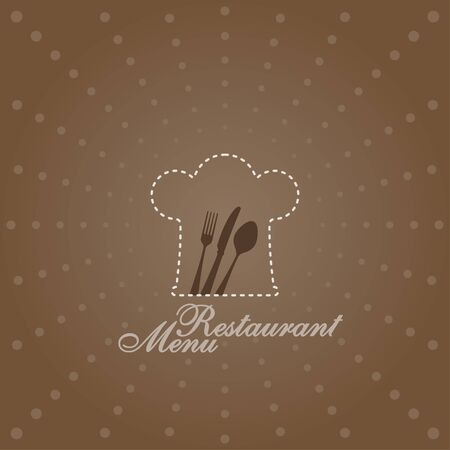 Menu Illustration with Chef Symbol Vector