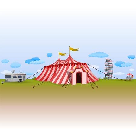 палатка: Парк развлечений с цирк