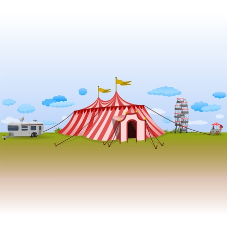fairground: Amusement Park with Circus