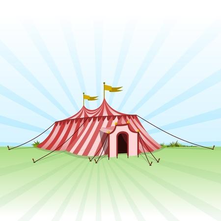 サーカスのエンターテインメントのテント