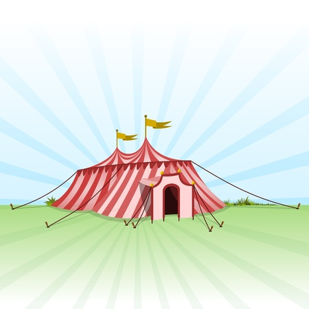 Circus Entertainment Tent Vector