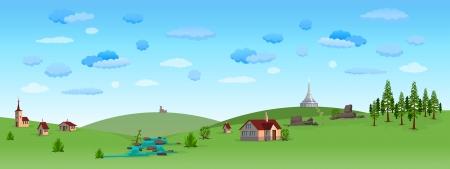 Nature Paysage avec ciel bleu