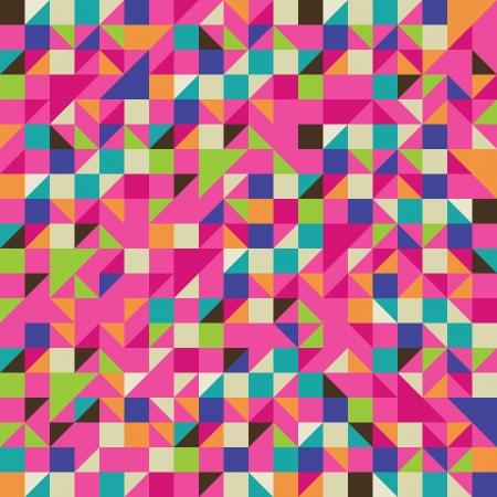モザイクのカラフルなイラスト  イラスト・ベクター素材