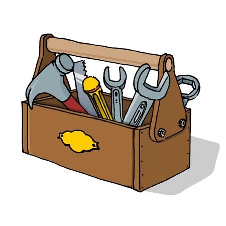 Caja de herramientas de ilustración vectorial Ilustración de vector