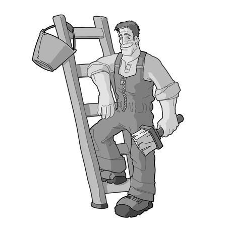 home deco: Monochrome Painter Vector