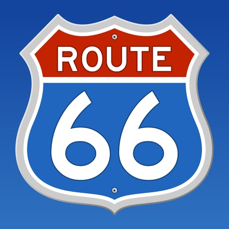 highway sign: Route 66 Road Sign Illustration