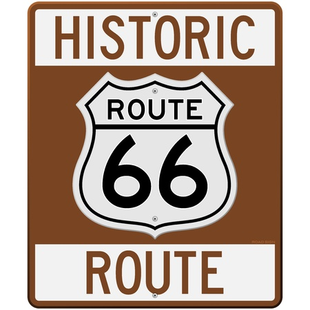 southwest: Historic Route 66 Sign Illustration