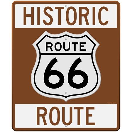 Historische Route 66 Teken