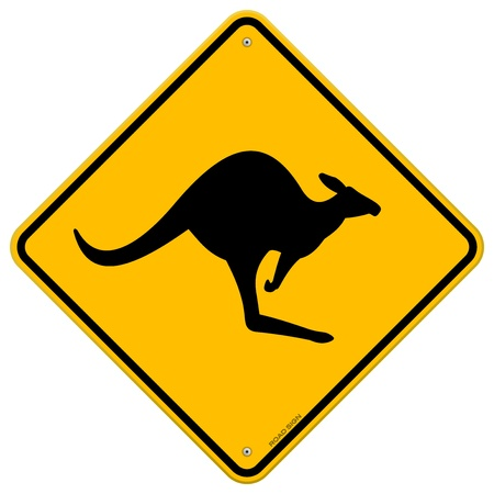 Kangaroo Sign Stock Vector - 11669979