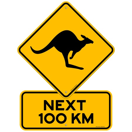 Kangaroos Next 100 km Stock Vector - 11640183