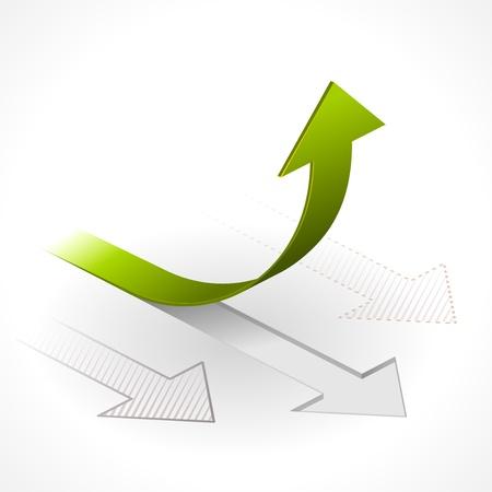 grafico vendite: Poi verso l'alto & Arrows Vettoriali