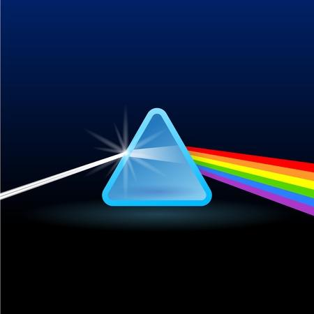 prisma: Rainbow luz de separaci�n con el Tri�ngulo Vectores