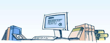 Sketch of a computer illustration Stock Illustration - 11890772