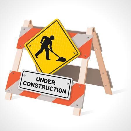 Under Construction Verkehrsschild