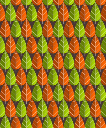 Leaves Pattern Illustration Stock Vector - 12018435