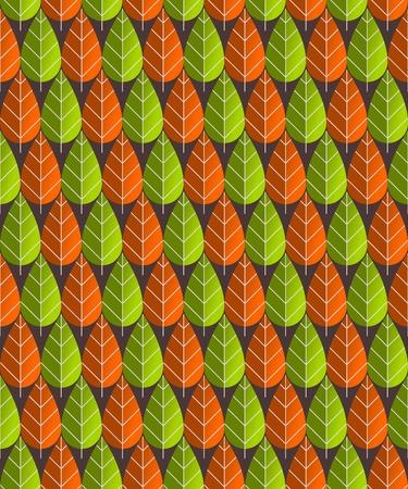 Leaves Pattern Illustration Stock Vector - 12018435