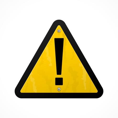 Yellow Danger Sign Stock Vector - 12066853