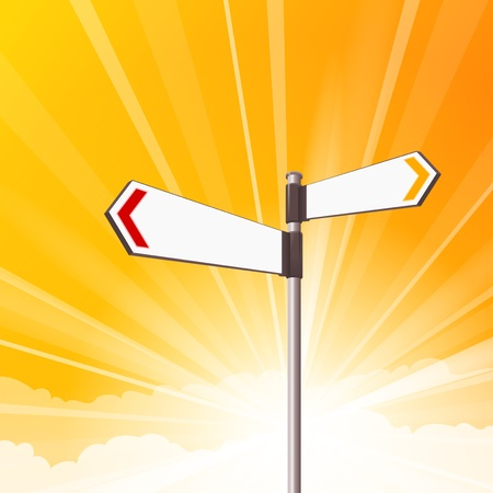 roadsigns: Blank Destination Signs