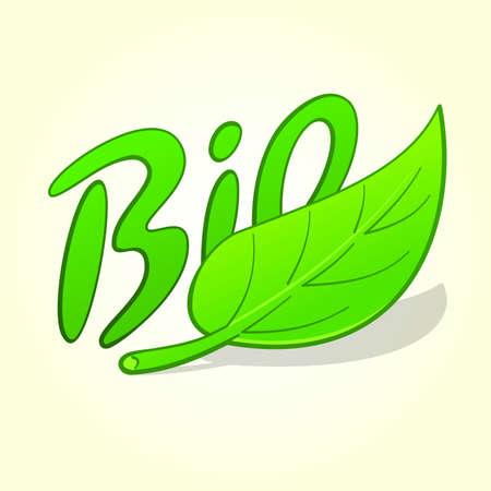 Green Bio Label Vector