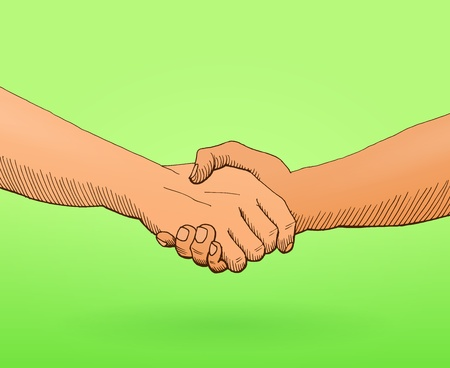 business people shaking hands: Shaking hands Illustration Illustration