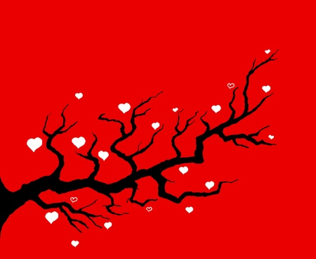 Red Cherry Tree Illustrazione