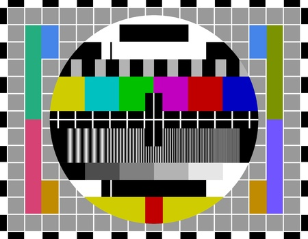PAL TV test signal Vector