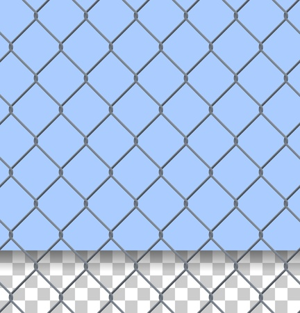 chain link fence: Security Fence Pattern Illustration