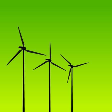 windpower: Eco Energy Turbines on Green