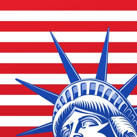 windpower: Liberty Statue Face Illustration