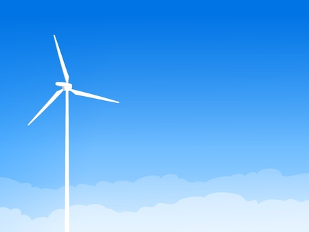 windpower: Eco Wind Turbine and Blue Sky