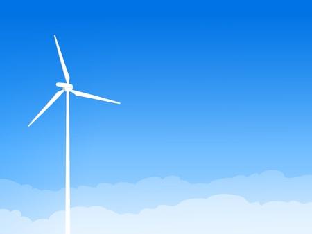 wind turbine: �olienne Eco et Blue Sky Illustration
