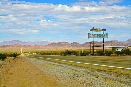 southwest usa: Route 66 Restaurant Sign