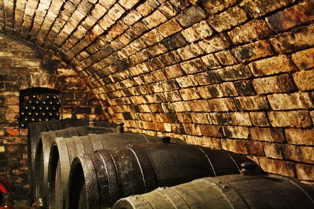 ferment: Old Wine Cellar Stock Photo