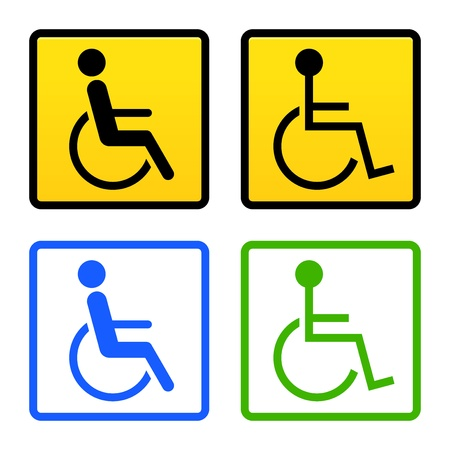 handicapped: Disabled Wheelchair Sign Illustration