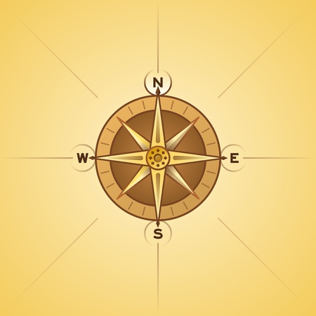 Nautical Rose Compass Stock Vector - 12484261