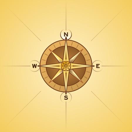Nautical Rose Compass Stock Vector - 12484261