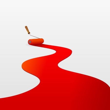 redecorate: Red Paint and Roller