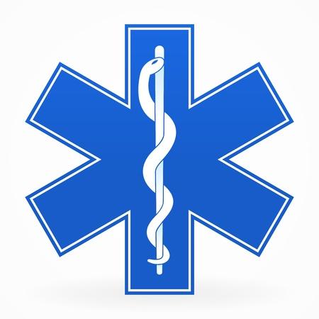 ambulances: Blue Medical Sign