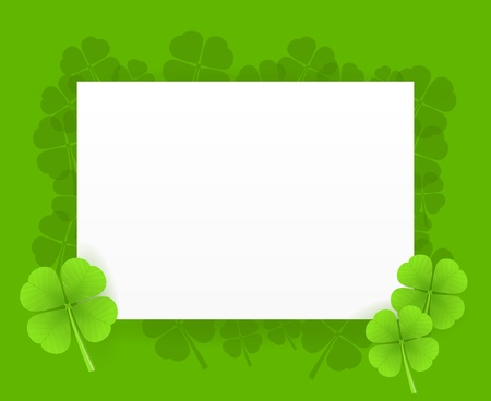 St Patrick Greeting Card Vector